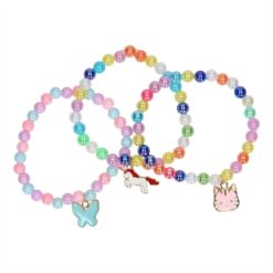 BFF Bracelet Beads Unicorn / Cat / Butterfly, 3pcs.