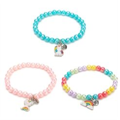BFF Bracelet Beads with Charms, 3pcs.