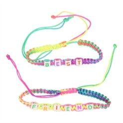 BFF Bracelet Braided with Letters, 2pcs.
