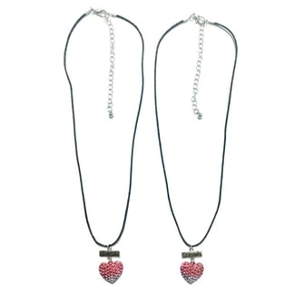 BFF Bracelet Cord with Heart, 2pcs.