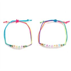 BFF Bracelet Cord with Letters, 2pcs.