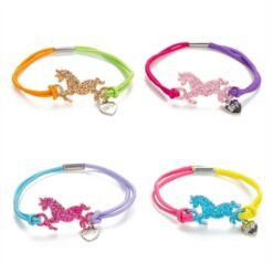 BFF Bracelet with Unicorn, 4pcs.