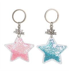 BFF Keychain Star with Glitter