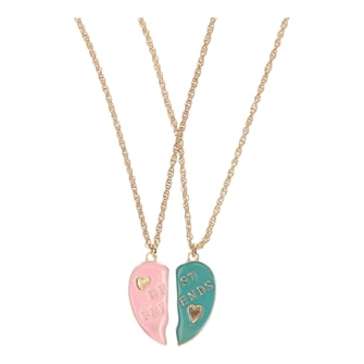 BFF Necklace with Broken Heart Large, 2pcs.