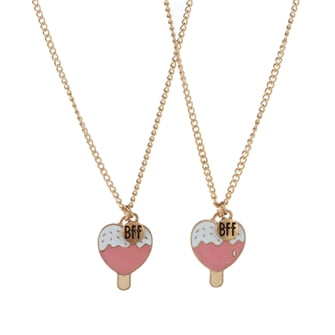 BFF Necklace with Lolly Ice Cream, 2pcs.
