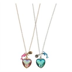 BFF Necklace with Mermaid, 2pcs.