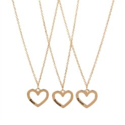 BFF Necklace with Open Heart, 3pcs.