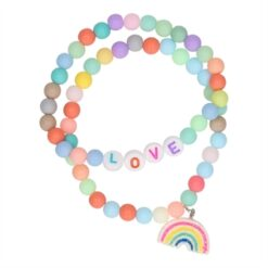 Bracelet Love and Rainbow, 2pcs.