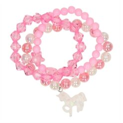 Bracelet with Beads and Unicorn, 3pcs.