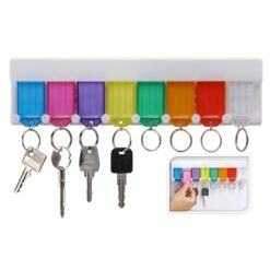 Sleutelrek with key chains, 8pcs.