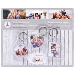 Keychain Picture frame, 3pcs.