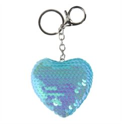 Keychain Sequins Heart